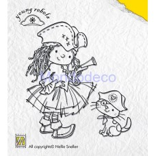 """Timbro - Nellie Snellen Clear Stamps """"YOUNG REBELS - Hands up"""""""