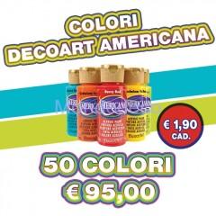 Assortimento di  50 colori Americana formato 59 ml.
