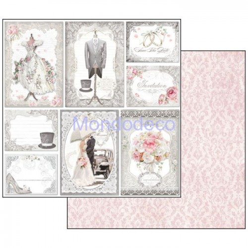 Blocco Carte Scrapbooking - Wedding SBBL18