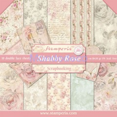 Blocco Carte Scrapbooking - Shabby Rose SBBL12