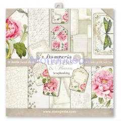 Blocco Carte Scrapbooking - Letters & Flowers SBBL22