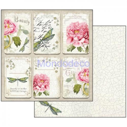 Blocco Carte Scrapbooking - Letters & Flowers SBBL22