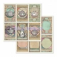 Blocco Carte Scrapbooking - Alice au Pays des Merveilles SBBL52