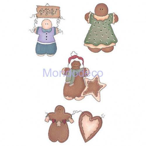 Kit Stencil Speedy Country Gingerbread n. 10