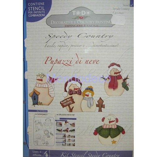 Kit Stencil Speedy Country pupazzo di neve n. 11