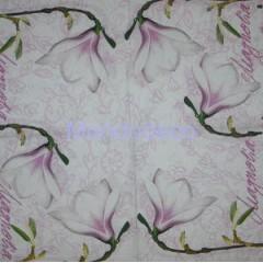 Tovagliolo per decoupage con magnolia