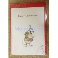 Biglietto d'auguri Mery Christmas con busta rossa